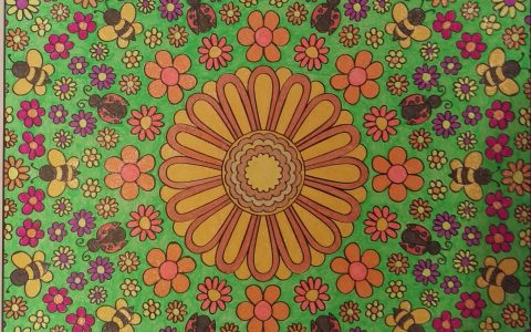 Bee Garden Mandala colored by Tracy Rodier