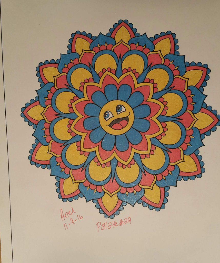 Happy Mandala colored by Amcriger93