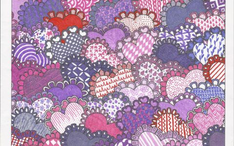 Hearty Jumble™ colored by Michelle Dawn Cotta-Rickard