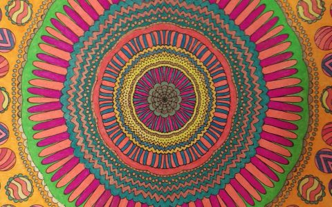 Mandala colored by Tracy Rodier