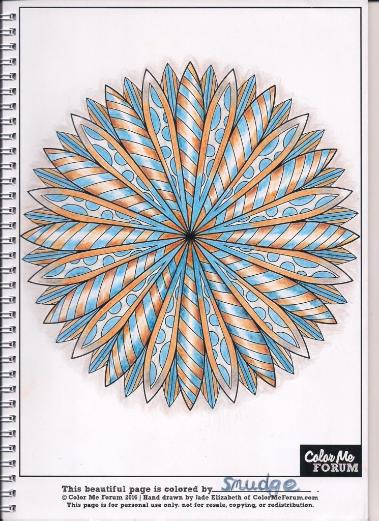 Mandy Mandala colored by Smudge