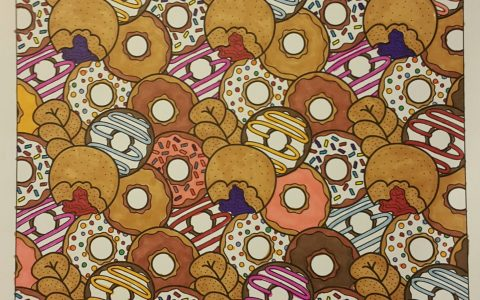 Doughnut Jumble™ colored by Wendy Lynn Criger-Reeves