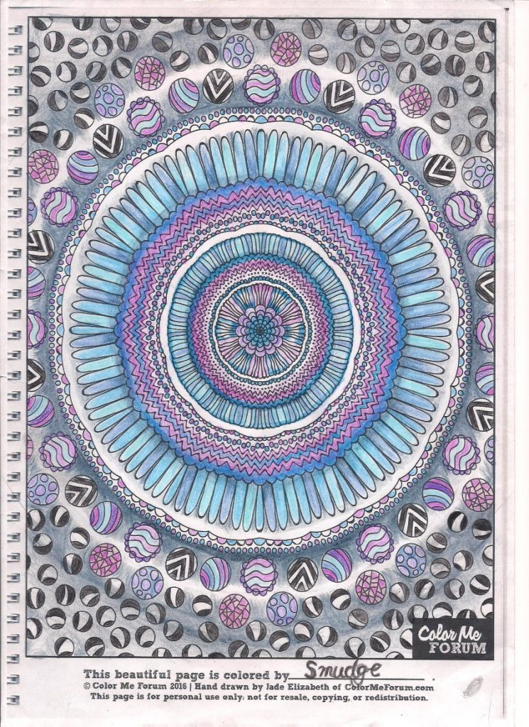 Mandala Mandala colored by Smudge